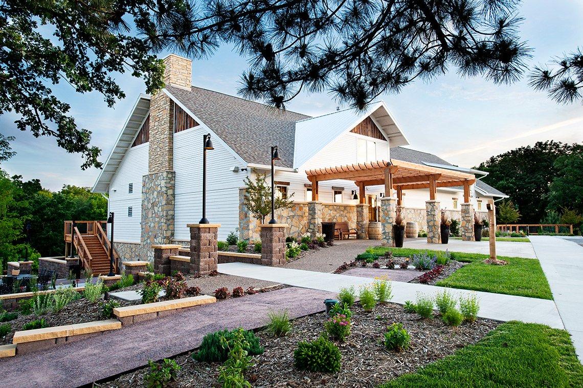 Chankaska Creek Winery exterior architecture