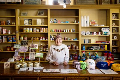 Portrait of 101-year-old Fremont Store owner in Minnesota