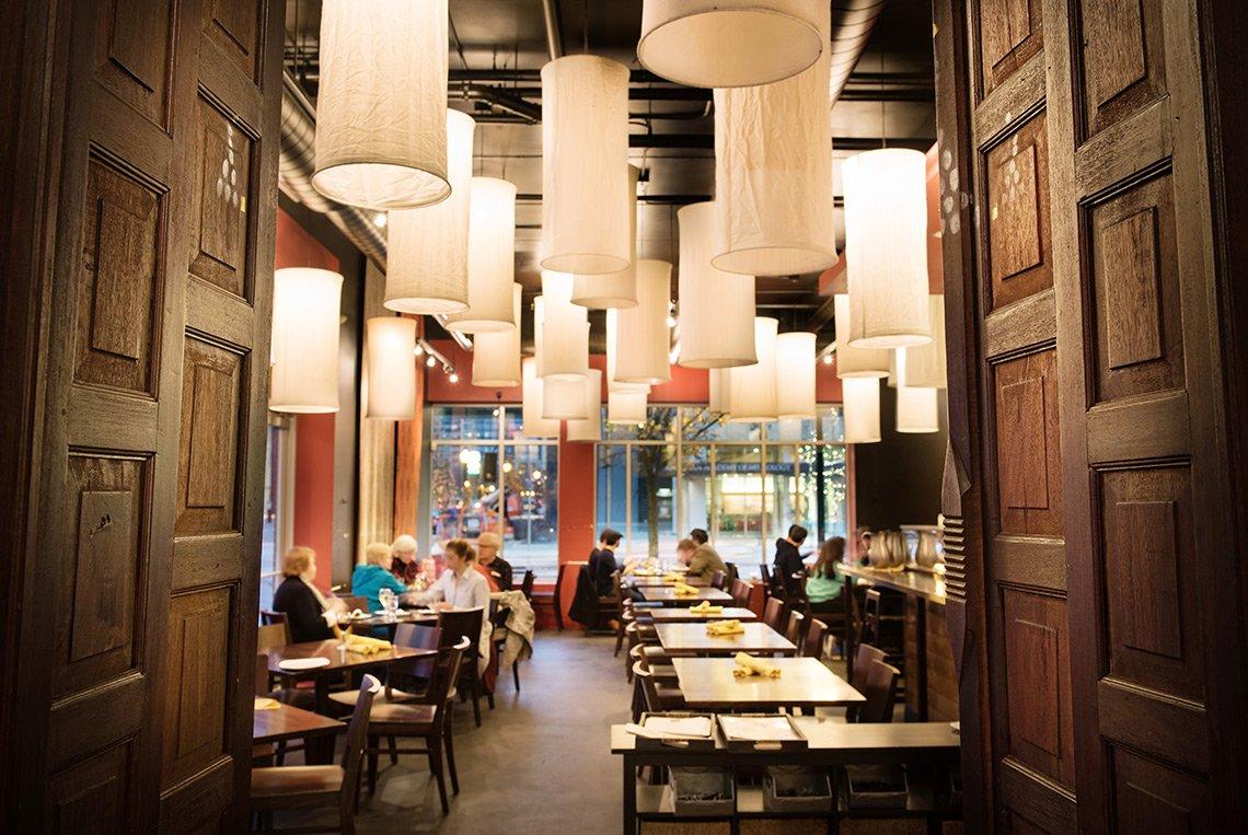 Interior photo of Thai restaurant in downtown Minneapolis, Minnesota