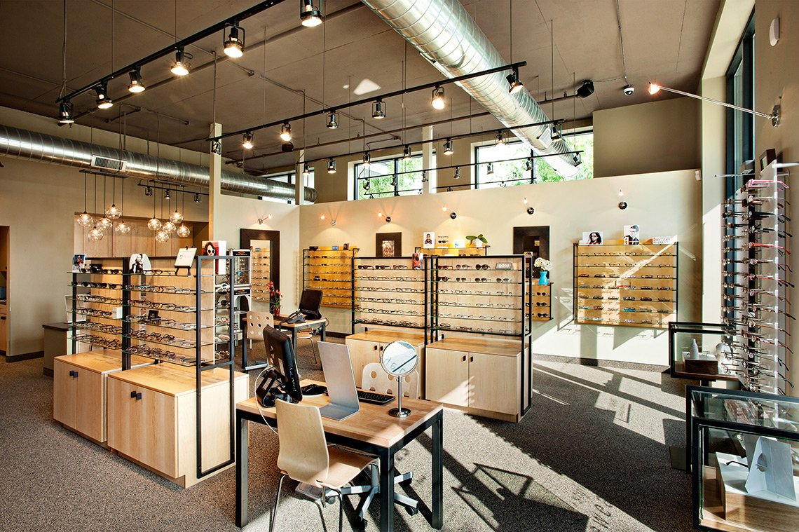 Interior space at Look + See Eyecare in Minneapolis Minnesota