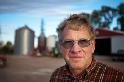 Agricultural portrait of a farmer in Minnesota