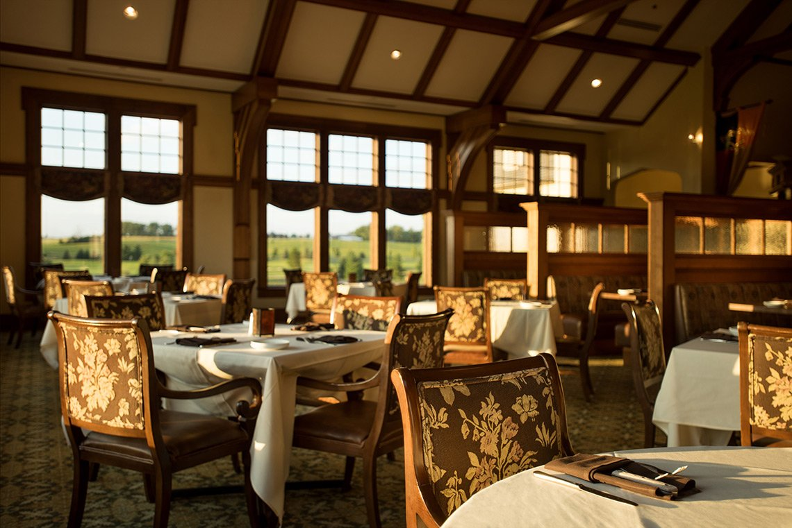 Interior architectural photo of the restaurant at Somerby in Byron, MN.