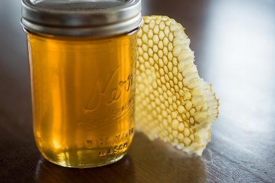 resh honey harvested at Somerby Golf Club in Byron, Minnesota.