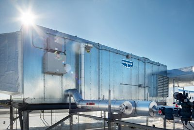 Product photo of a large rooftop air system in Minnesota for Avapco.