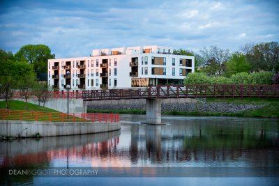 Architectural photo of Lofts at Mayo park in downtown Rochester, Minnesota.