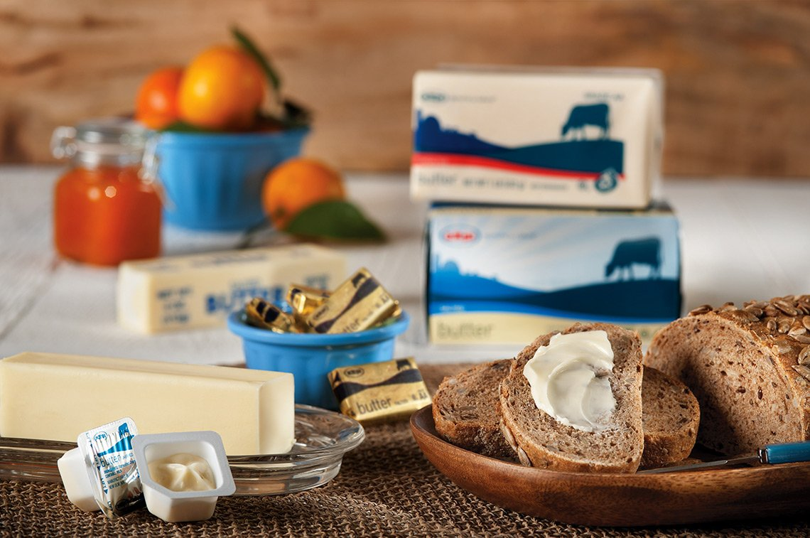 Product photo of butter for AMPI Dairy in Minnesota