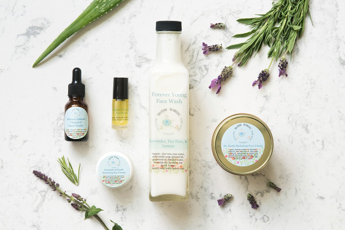 Product photo of skincare products for Ballerina Botanicals in Minn