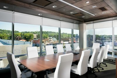 Architectural photo of a corporate meeting room in Mankato, Minnesota