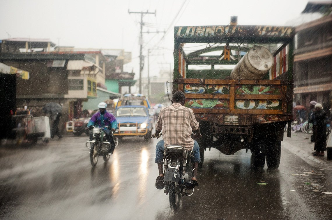 A street scene in Haiti taken by editorial photographer, Dean Riggott.