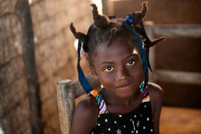 Editorial photography of a young girl in Haiti
