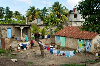 A typical house and yard in Fort Liberte Haiti.