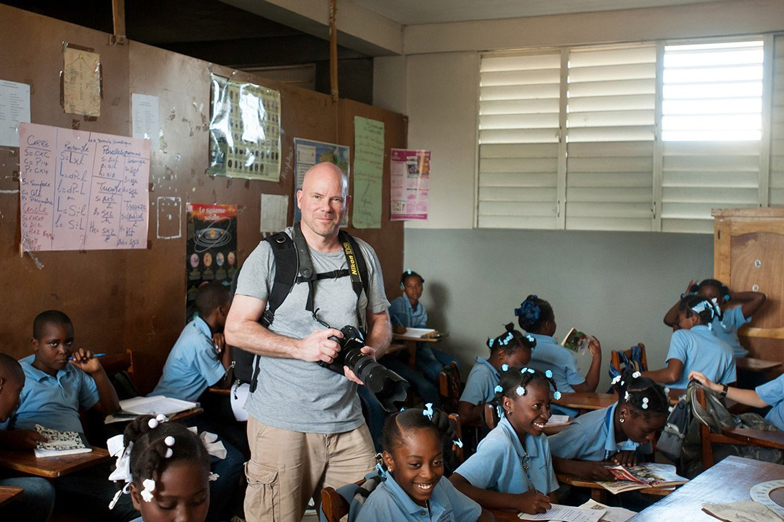 Dean on an editorial photo shoot in Fort Liberte, Haiti.