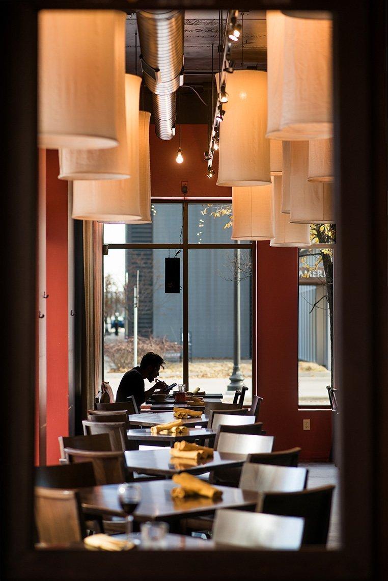 interior tables at a restaurant