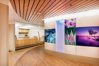 Interior photograph of the radiology desk at Mayo Clinic's Jacobson Bldg