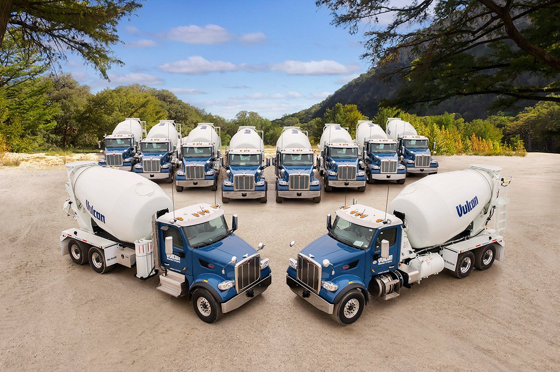 Product photo of large cement trucks for McNeilus Trucking