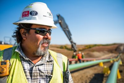 Portrait of oil pipeline worker in SD