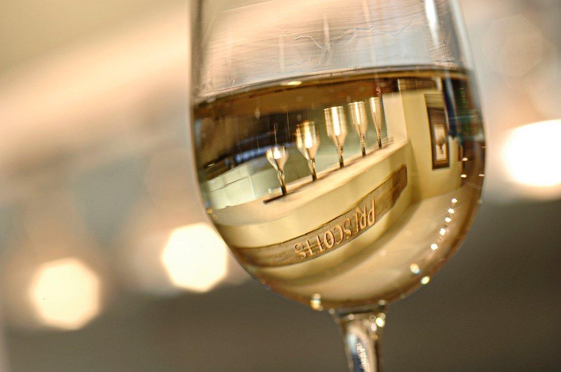 Wine glass at Prescott's in Rochester Minnesota