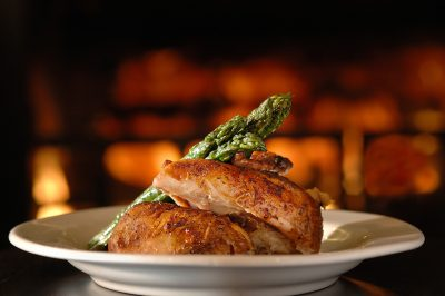 Hospitality food photo of chicken and asparagus at Chester's in Rochester MN