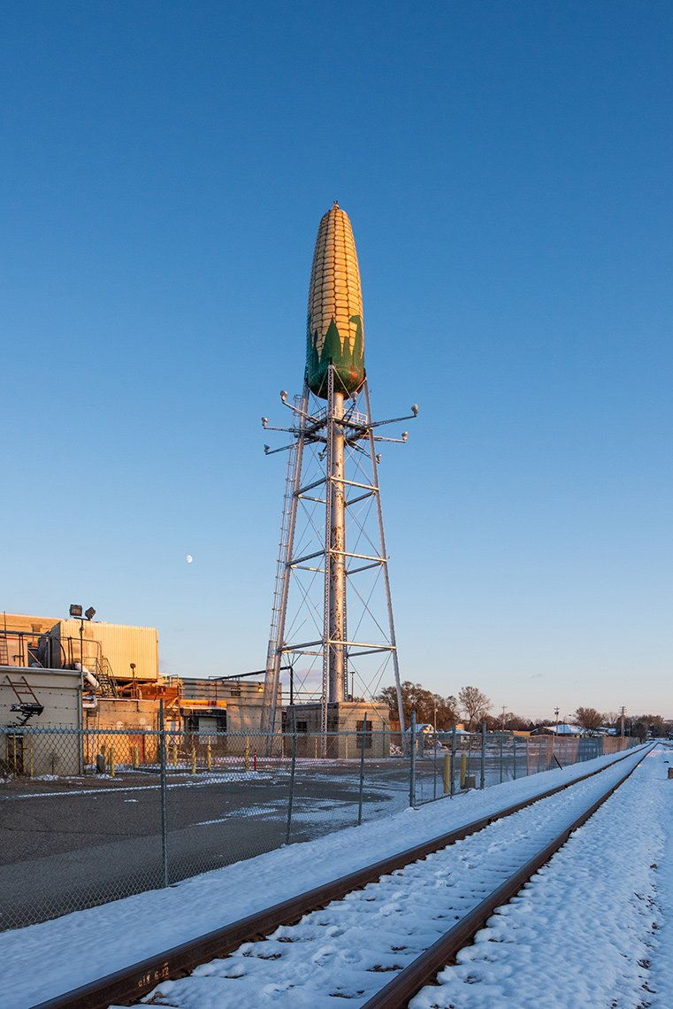 Seneca Foods corn tower in Rochester MN