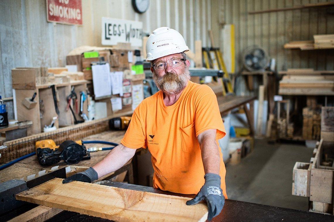Industrial portrait at Vetter Stone in Minnesota