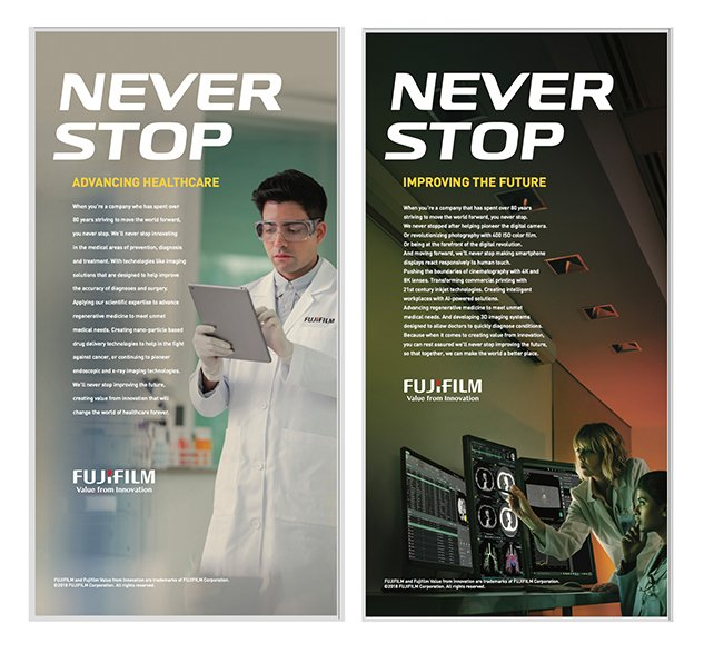 Fujifilm Healthcare photography ads