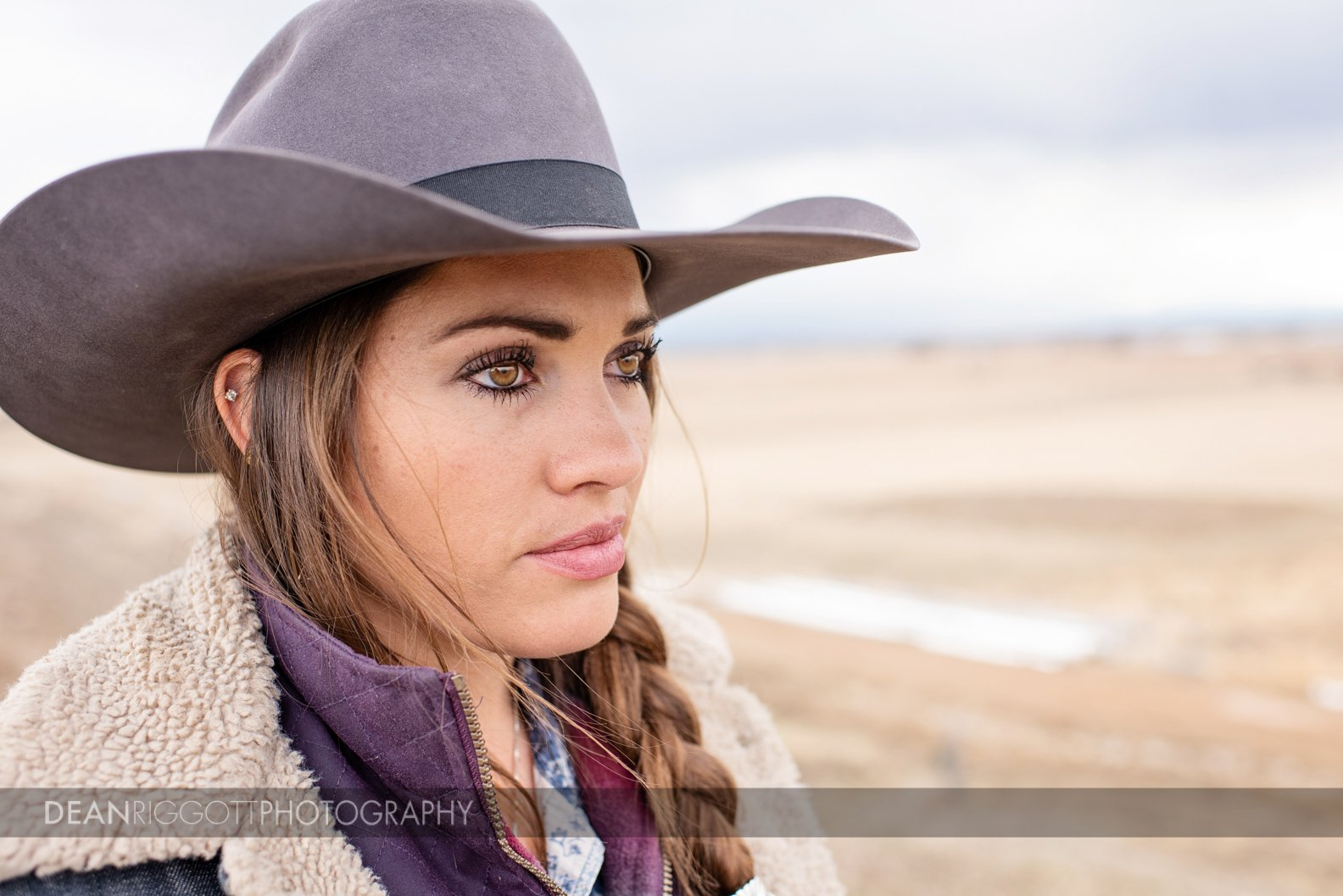 Editorial photography portrait of Colorado cowgirl