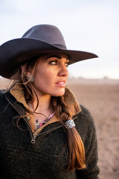 Editorial photography portrait of cowgirl in Colorado