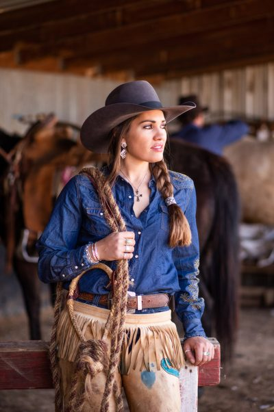 Editorial photography of cowgirl in Colorado