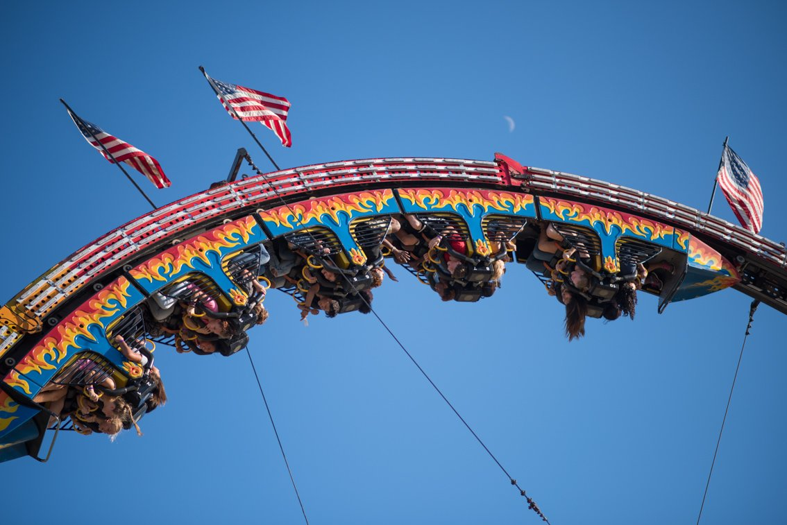 Editorial photography of fair rides in Rochester mn