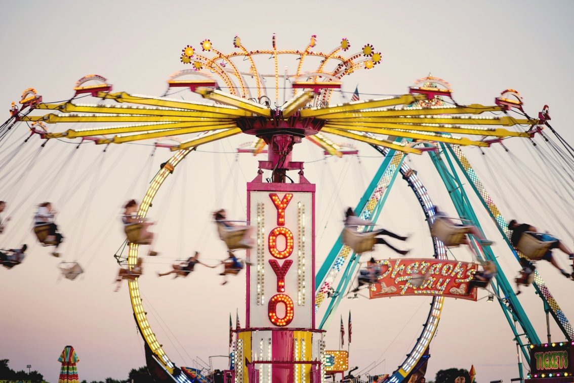 Editorial photo of fair rides in Rochester mn