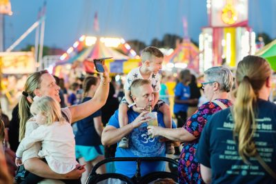 Editorial photo of fair-goers in Rochester mn
