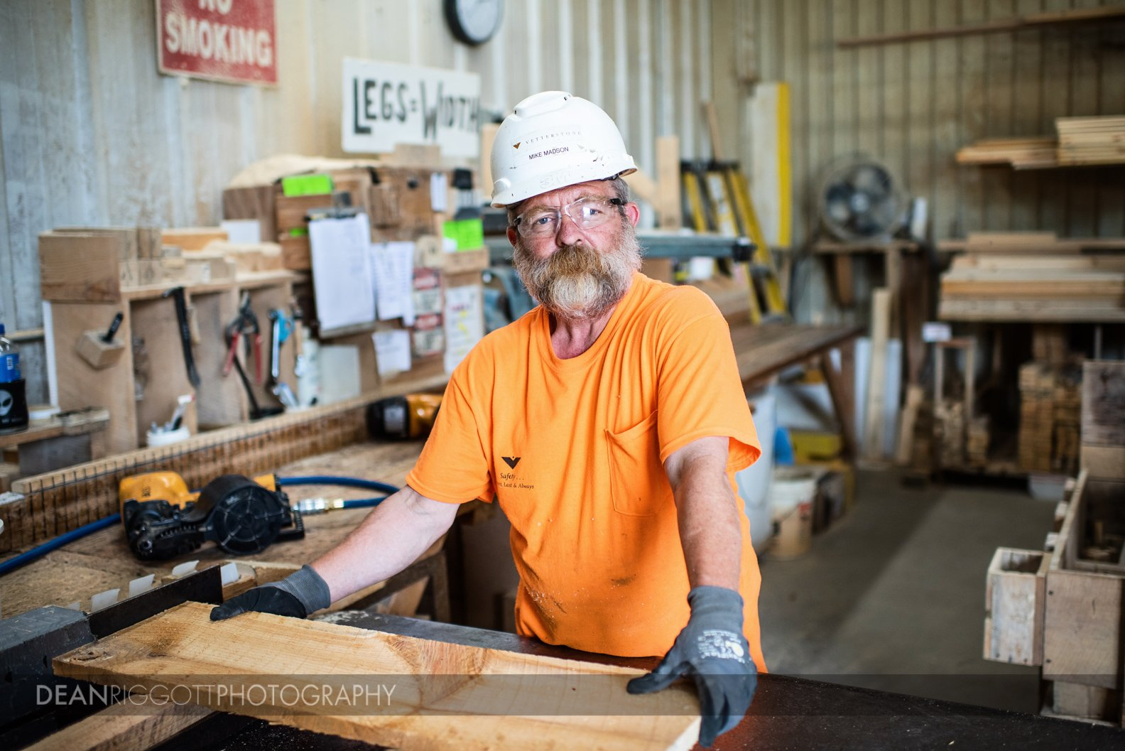 Industrial photography portrait at Vetter Stone in Minnesota