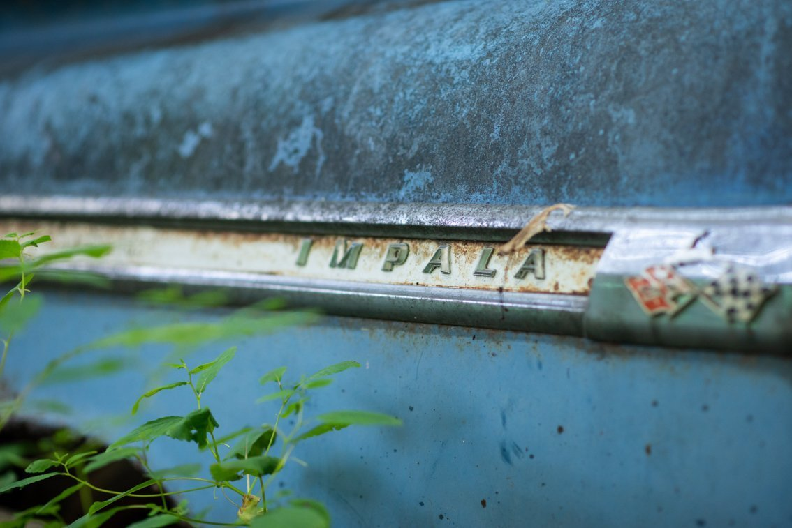 logo of abandoned Chevrolet Impala