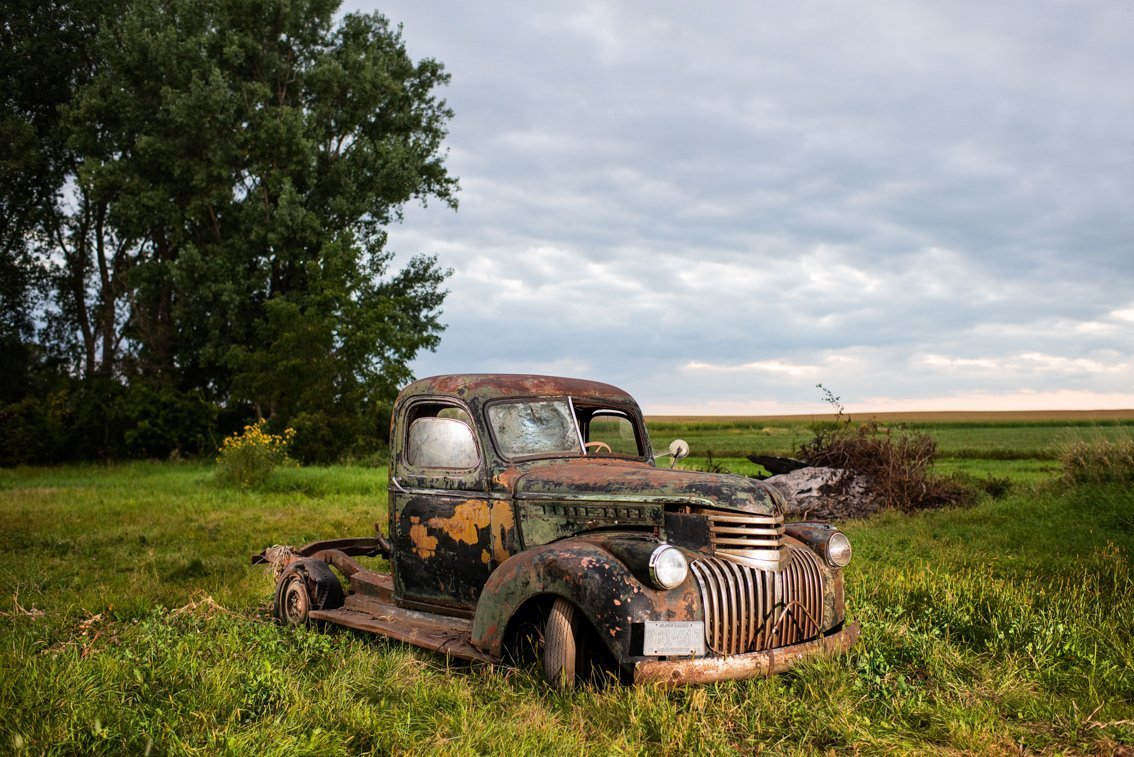 abandoned Chevy Pickup truck