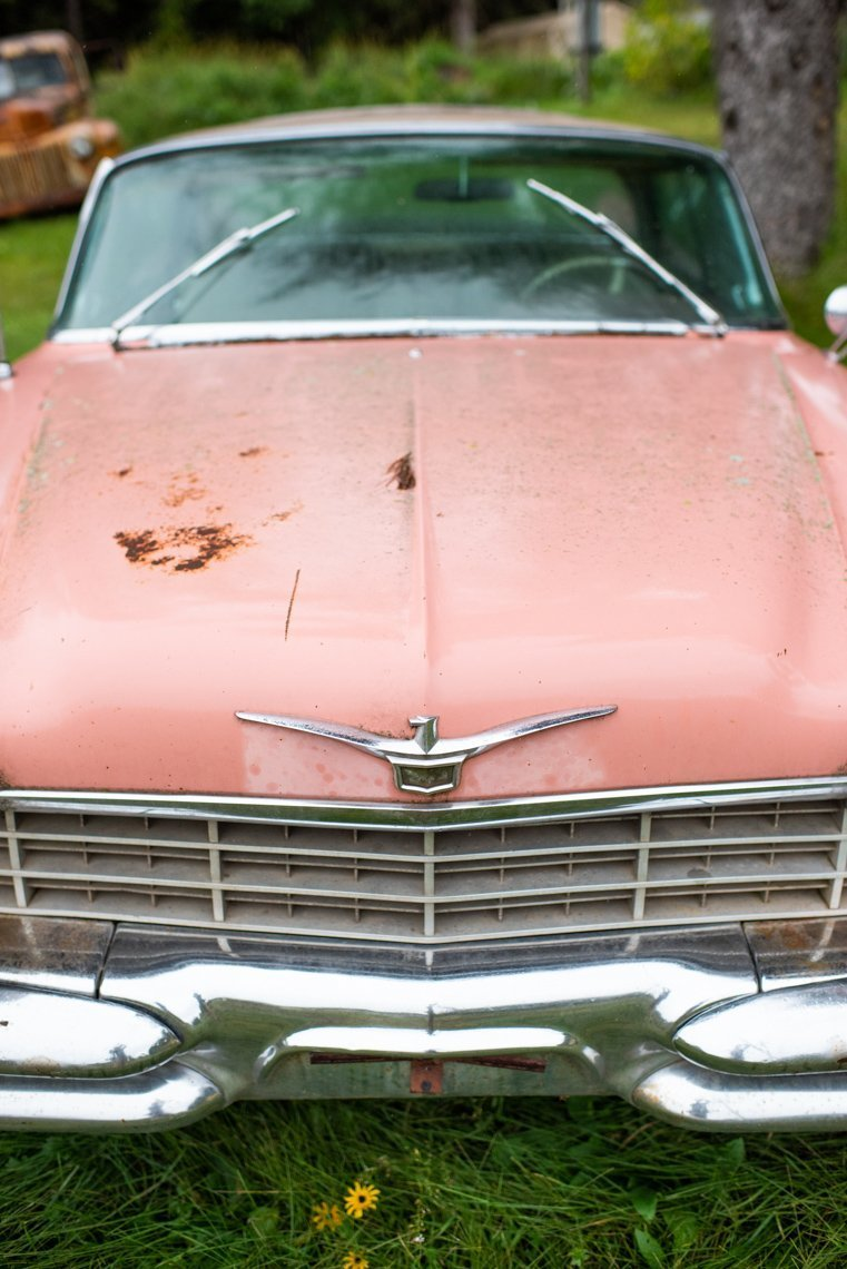 hood of Chevrolet Imperial