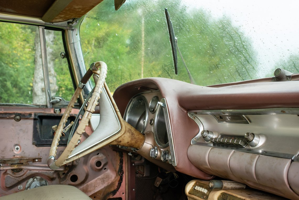 interior of front of Chevrolet Imperial