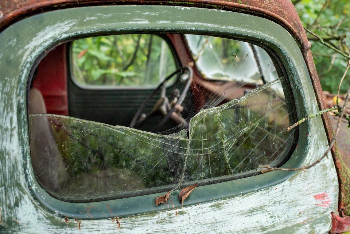 broken window closeup of KB3