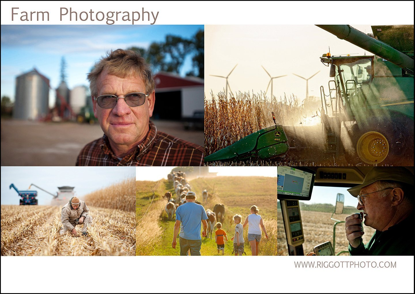farm photography collage