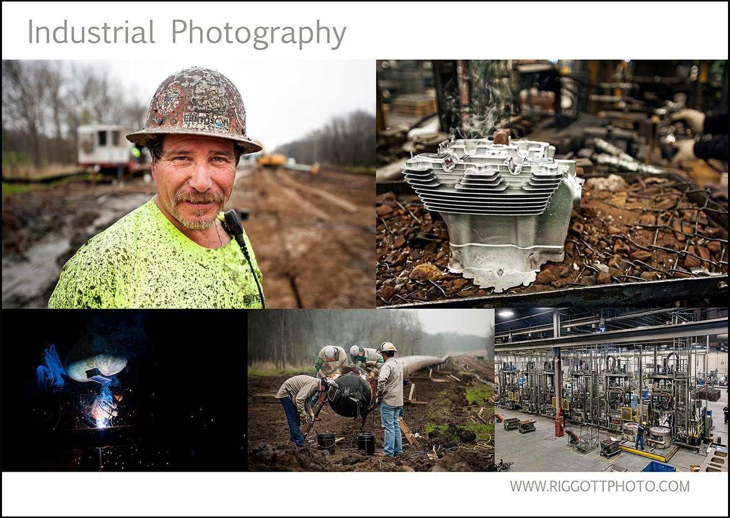 industrial photo collage