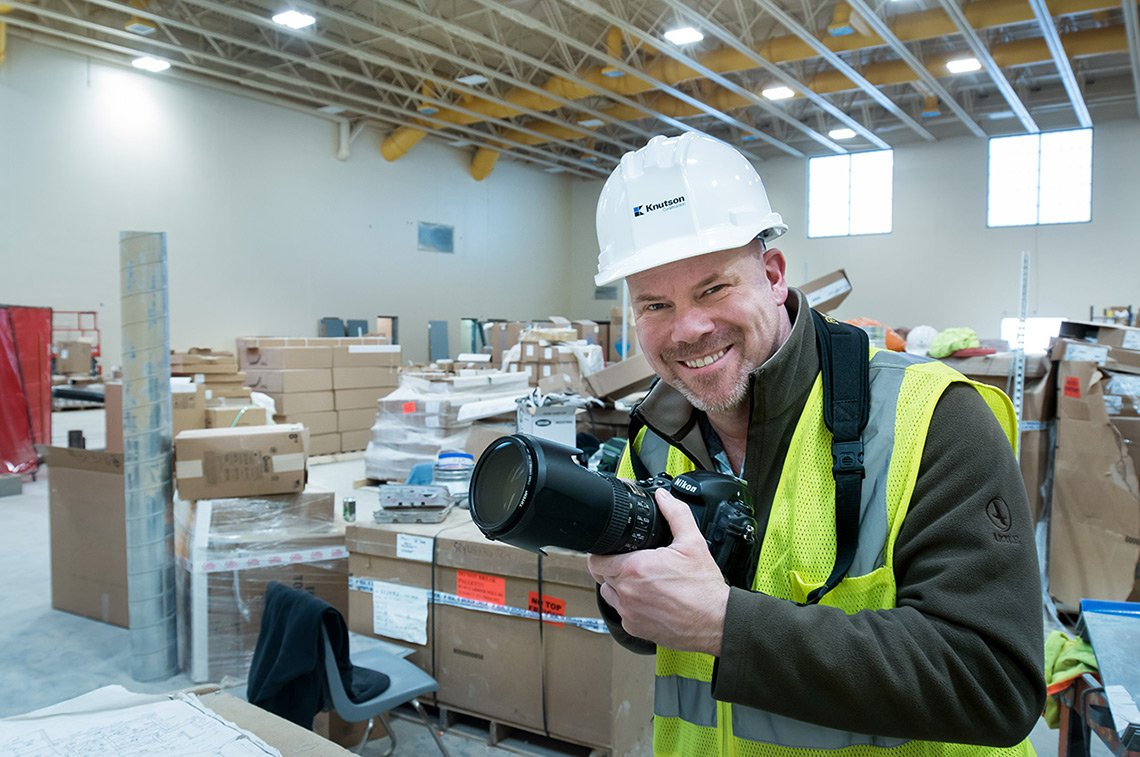 Dean working on an industrial photoshoot at Knutson